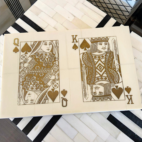 A. Sanoma Double Inlaid Bone Playing Card Box