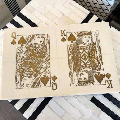 A. Sanoma Double Inlaid Bone Playing Card Box