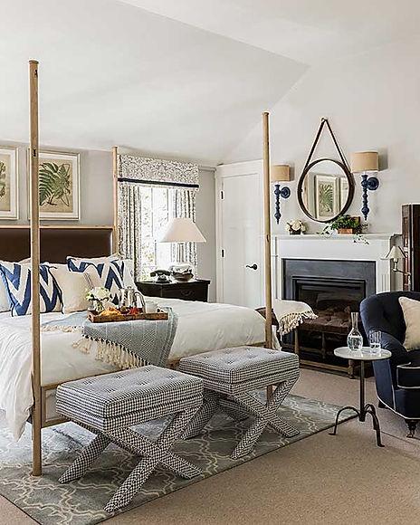 Inn at Hastings Park bedroom designed by Robin Gannon Interiors