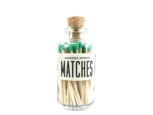 Made Market Co. Mini Vintage Apothecary Matches - Green