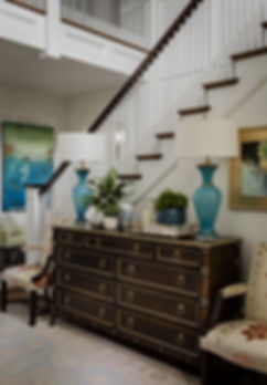 Foyer designed by Robin Gannon Interiors