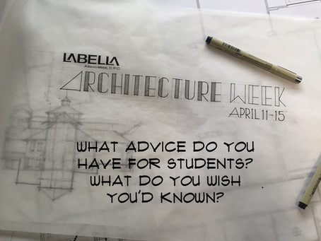 Architecture Week: Advice for Students