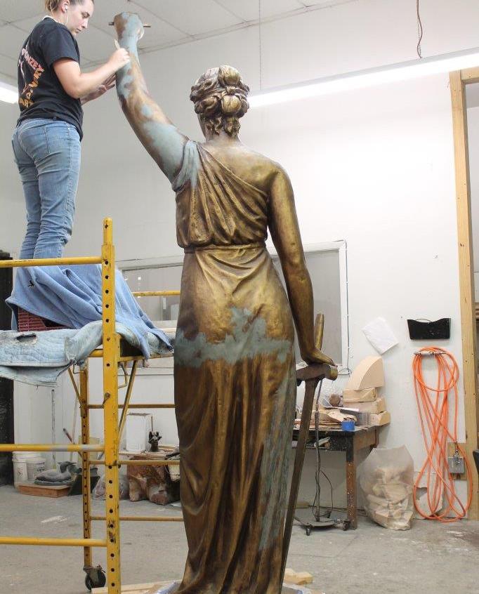 Preparing to make a wax mold.