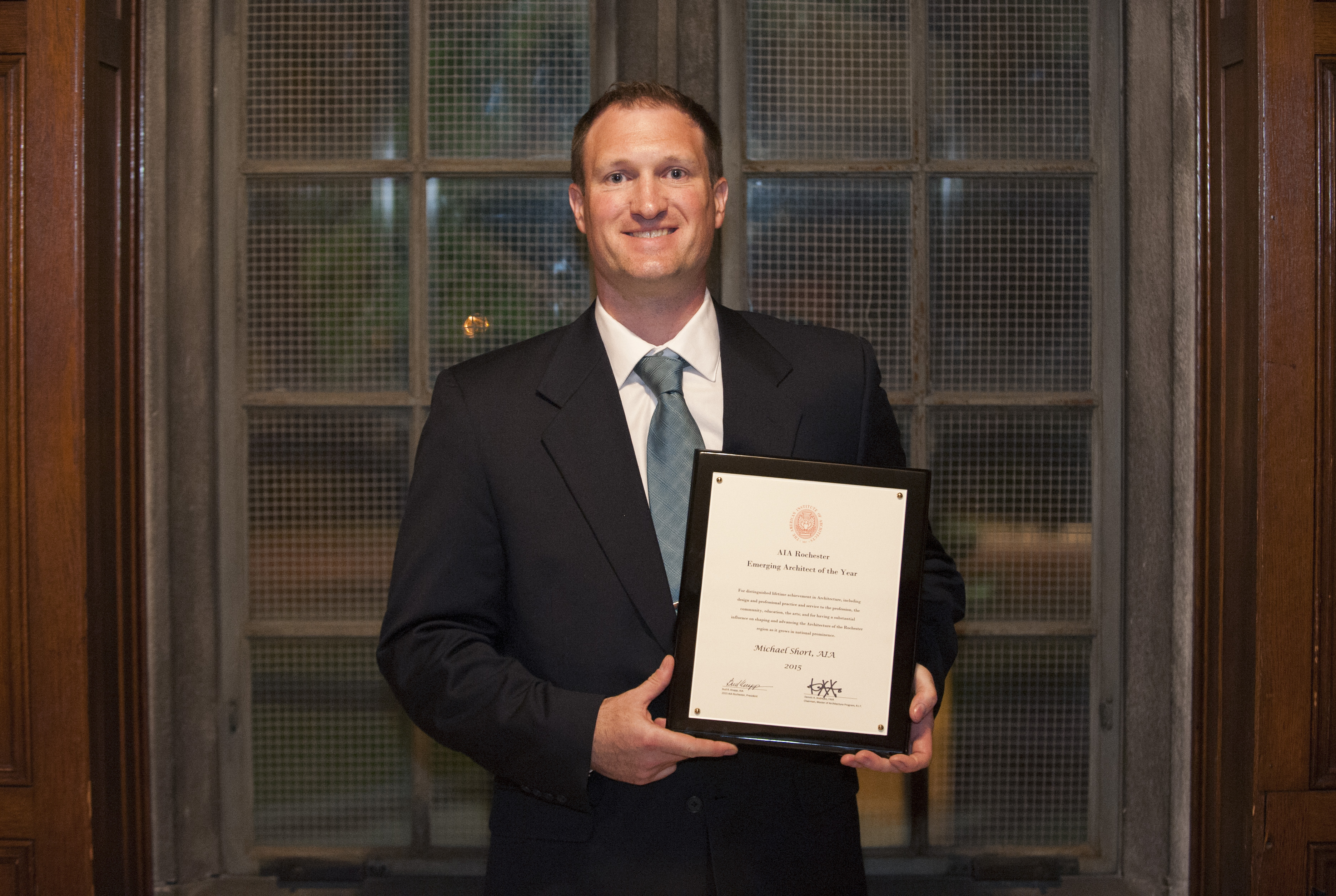 Congratulations To Michael Short Emerging Architect Of