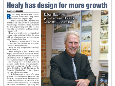 LaBella President Robert Healy Profiled in the Rochester Business Journal