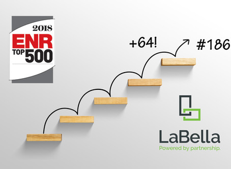 LaBella Climbs 64 Spots on the Engineering News-Record's Top 500 Global Design Firms List
