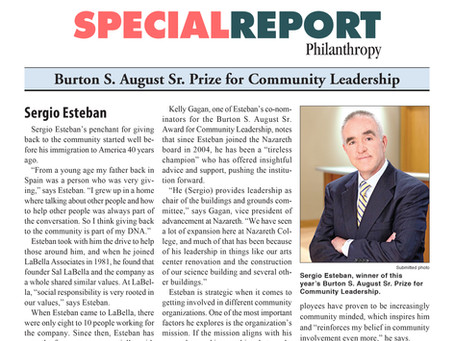 Sergio Esteban to Receive Recognition For a Lifetime of Community Service
