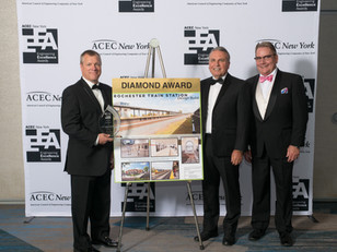 Louise M. Slaughter Rochester Train Station Awarded Engineering Excellence Honors at State and Natio