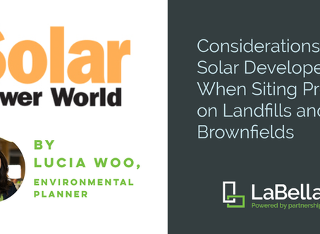 LaBella's Solar on Landfill/Brownfield Expertise Featured in Solar Power World