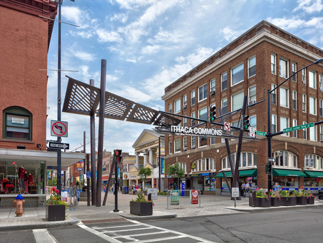 Ithaca Commons Redesign Project Nears Completion