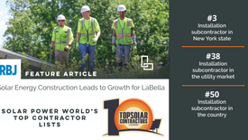 LaBella's Solar Power World Rankings Featured in the Rochester Business Journal