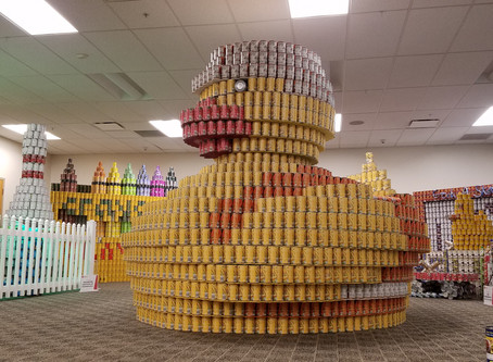 Congratulations to our Rochester Canstruction Team for Bringing Home Two Awards!