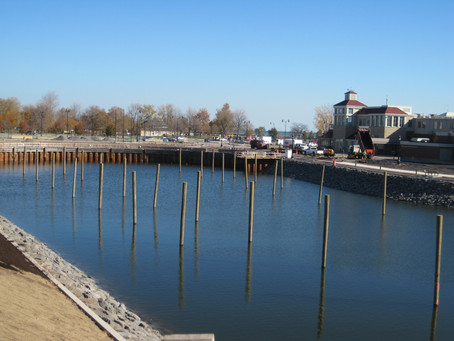 Construction of Port of Rochester Marina Nearing Completion
