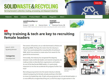There's No Time to Waste In Developing More Women Leaders in the Waste & Recycling Industry