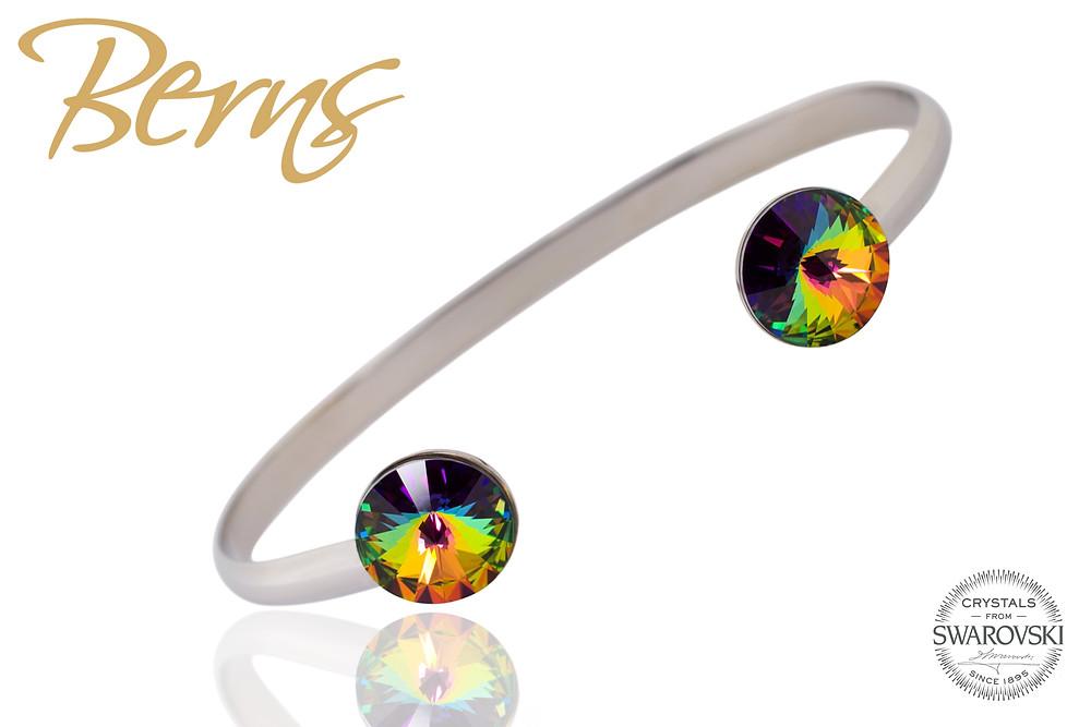 Az eredeti  Swarovski kristályok harmóniája alkotják a Berns ékszerek utánozhatatlan varázsát.