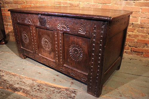 16th century oak coffer