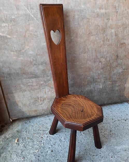 19th century elm spinning stool