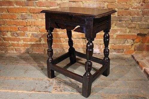 17th century walnut joint stool