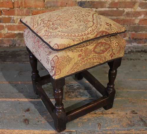 Late 17th century oak stool