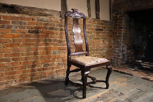 Early 18th century walnut chair