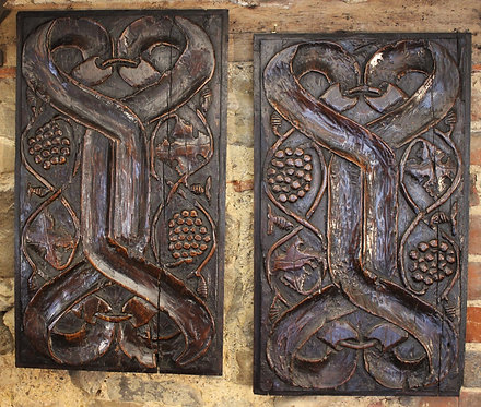 A rare pair of early 16th century panels