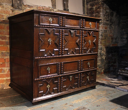 17th century oak moulded chest