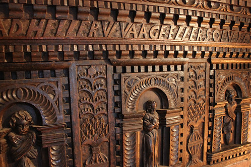 16th century Danish carved panel