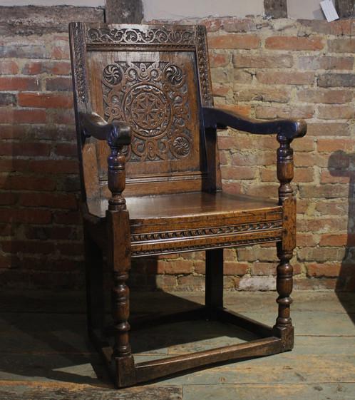 Marvelous 17th Century Oak Wainscot Chair