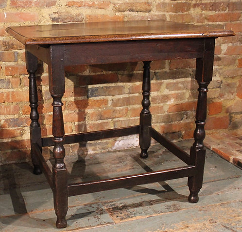 17th century walnut and oak table