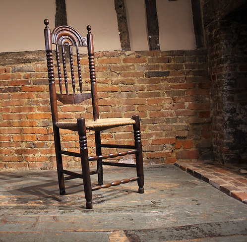 18th century rush seated chair