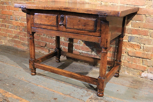 18th century walnut low table