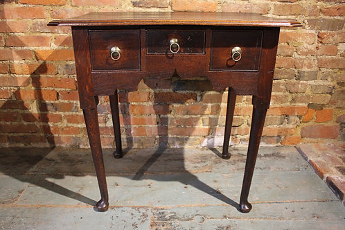 18th century pad foot lowboy