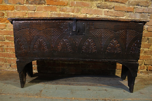 17th century elm coffer