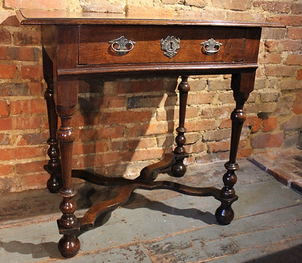 Small oak William and Mary side table