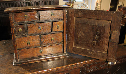 Small 18th century oak spice cupboard - Small 18th Century Oak Spice Cupboard Early Oak Antique Furniture