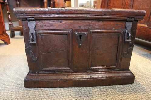 17th century oak strong box