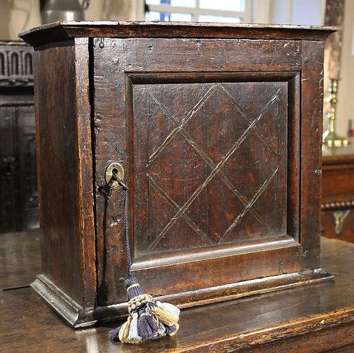 Small 18th century oak spice cupboard