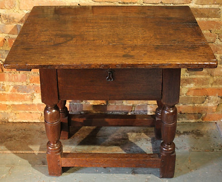 Small 17th century oak low table