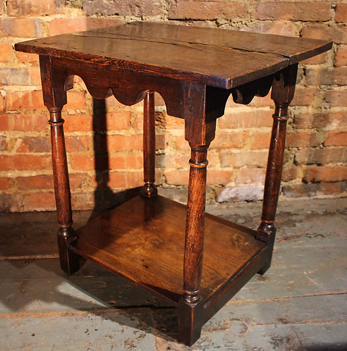 Very small 18th century ash and elm table