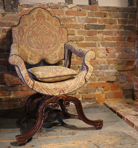 17th century X frame chair