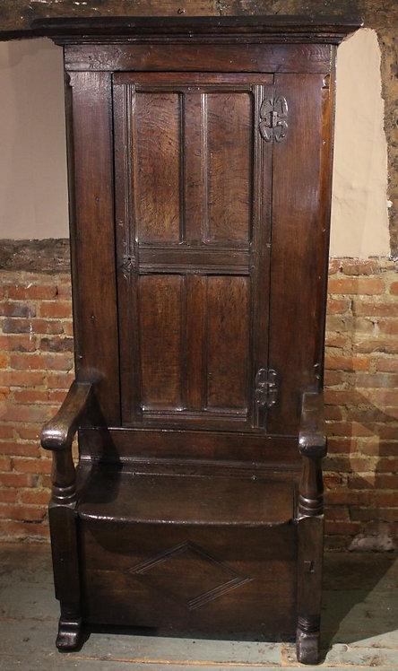 17th century oak porters chair