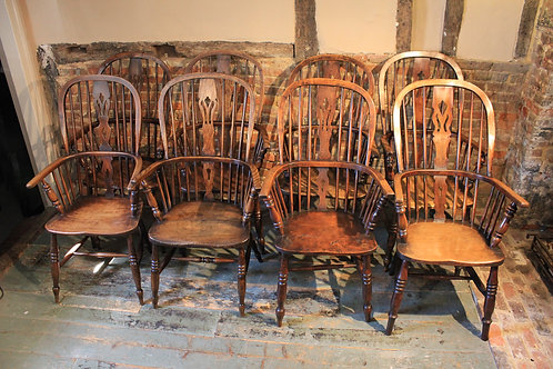 Matched set of eight Windsor chairs