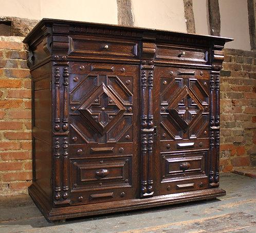 17th century oak enclosed chest