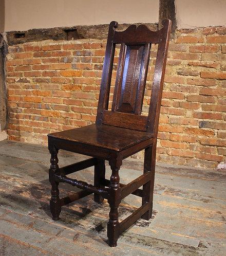 17th century oak hall chair