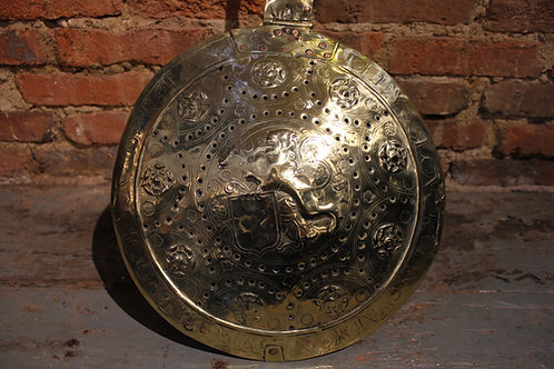 17th century brass warming pan