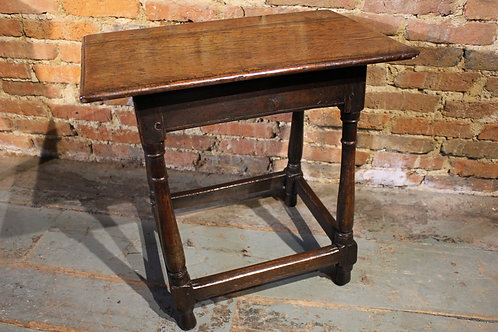Very small joined oak table