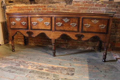 Late 18th century oak dresser base