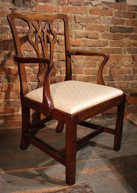 18th century mahogany armchair.