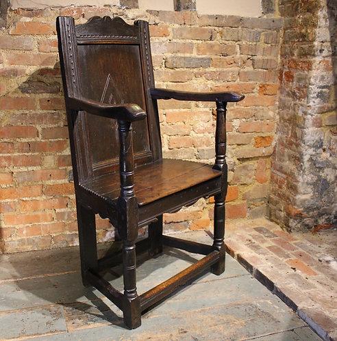17th century oak armchair