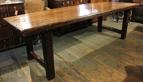 19th century yew wood dining table